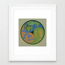 Barley, Hops, Water Framed Art Print