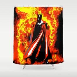 Bat on Fire Shower Curtain