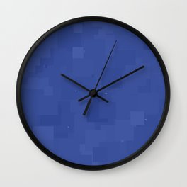 Deep Ultramarine Square Pixel Color Accent Wall Clock