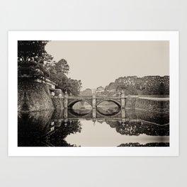 Tokyo Imperial Bridge Art Print