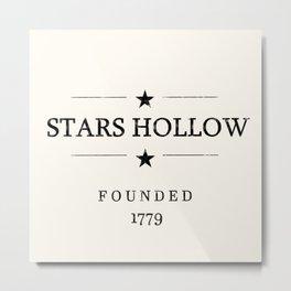 Stars Hollow Sign Metal Print