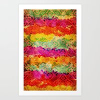 hindu Art Prints featuring Hindu Colors by Diego Tirigall