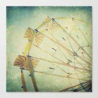 ferris wheel Canvas Prints featuring Ferris Wheel by Honey Malek