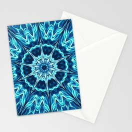Psychedelic Blues Stationery Cards