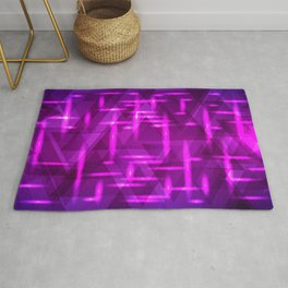 Ultramarine pink intersections on a blue metal background. Rug