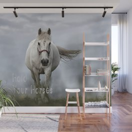 Hold Your Horses Wall Mural