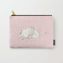 Pink Armadillo Carry-All Pouch