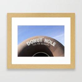 The Donut Hole Framed Art Print