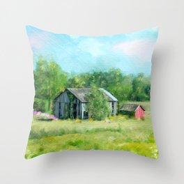 Ohio Barn Throw Pillow