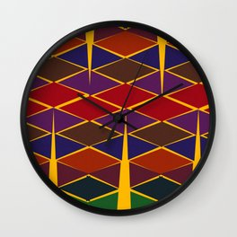Color Pattern Indian Wall Clock