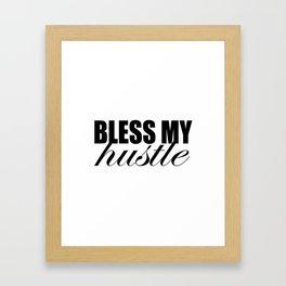 Simple Bless My Hustle Logo Framed Art Print