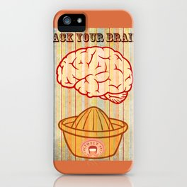 Rack your brains iPhone Case