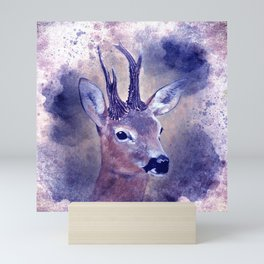 roebuck painting on watercolor -01- Mini Art Print