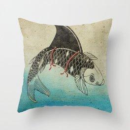 Koi Shark Fin Throw Pillow
