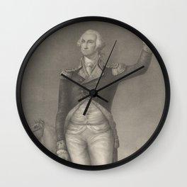Vintage George Washington Portrait (1854) Wall Clock
