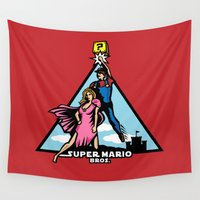 mario bros Wall Tapestries featuring Super Mario Bros - A New Hope by NBdesign