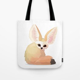 cute fennec foxes. Vector graphic character Tote Bag