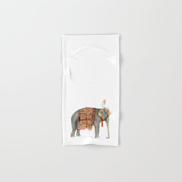 Riding Elephant Hand & Bath Towel