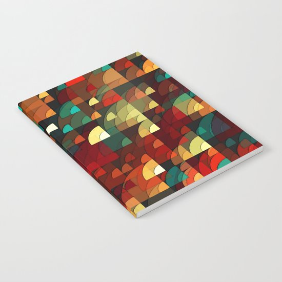 abstract fish scales  Notebook