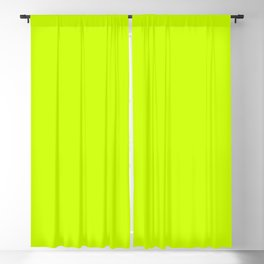Bright green lime neon color Blackout Curtain