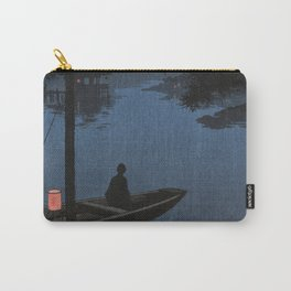 Boat with Lantern Beneath Shubi Pine Carry-All Pouch