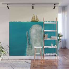 The Whale - colour option Wall Mural