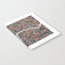 London Multicoloured Print Notebook