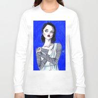sky ferreira Long Sleeve T-shirts featuring Sky ferreira / Blue period  by Lucas David
