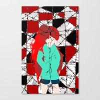 madoka magica Canvas Prints featuring Madoka Magica - Kyoko by Shim Kirosiki