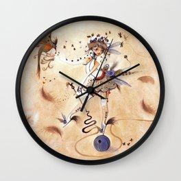 Pas de paon Wall Clock