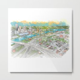 Pittsburgh Aerial Metal Print