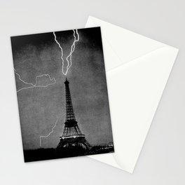 Lightning Striking The Eiffel Tower - Paris 1902 Stationery Cards