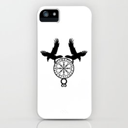 Norse Ravens - Helm of Awe iPhone Case