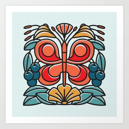 Butterfly tile Art Print