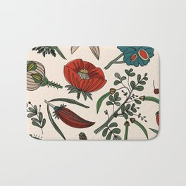 Pattern from field flowers and herbs Bath Mat