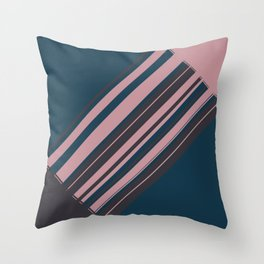 Rose stripes Throw Pillow