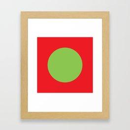 The Green Dot Framed Art Print