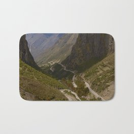 Serpentine Road for Crossing Andes Mountains Bath Mat