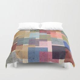 Vintage Colorful Squares Duvet Cover