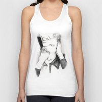 david bowie Tank Tops featuring DECONSTRUCTION OF DAVID BOWIE  by Dianah B