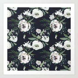 Rustic Floral Print Art Print