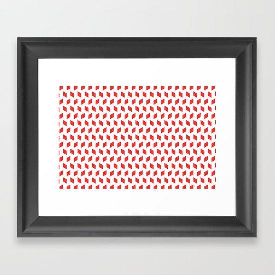 rhombus bomb in poppy red Framed Art Print