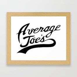 AVERAGE JOES Framed Art Print