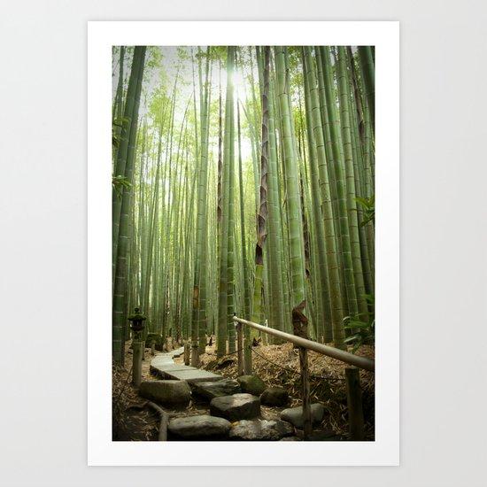 HOKOKUJI BAMBOO Art Print