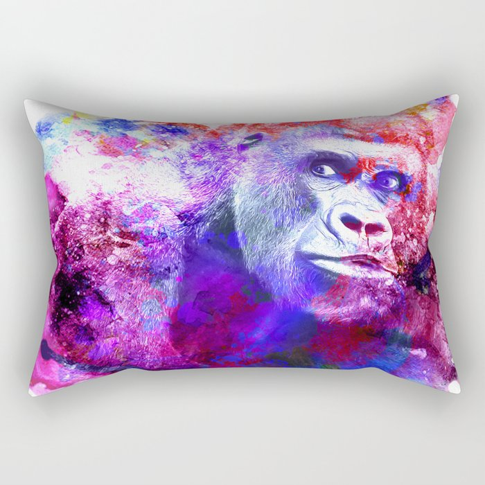 Gorillas are some of the most powerful and striking animals Rectangular Pillow