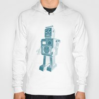 robot Hoodies featuring ROBOT by Charlotte Dandy