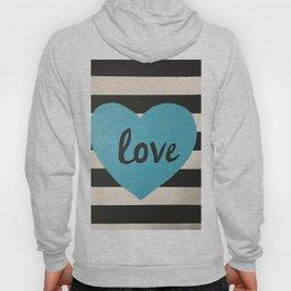 Love striped Hoody