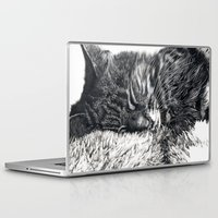 charlie Laptop & iPad Skins featuring Charlie by Lucy Schmidt Art