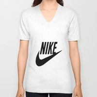nike V-neck T-shirts featuring NIKE by I Love Decor