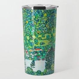 """Gustav Klimt """"Slope in a Forest on Attersee Lake"""" Travel Mug"""